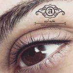 خط چشم تاتو شده