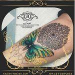 تاتو پروانه روی دست