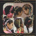 بافت مو با کاموا دخترانه
